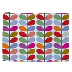 Colorful Bright Leaf Pattern Background Cosmetic Bag (xxl)  by Simbadda