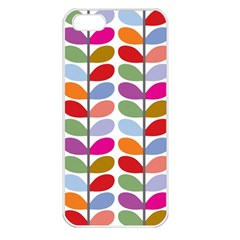 Colorful Bright Leaf Pattern Background Apple Iphone 5 Seamless Case (white) by Simbadda