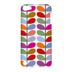 Colorful Bright Leaf Pattern Background Apple Ipod Touch 5 Hardshell Case by Simbadda