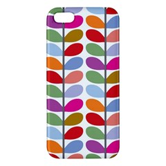 Colorful Bright Leaf Pattern Background Iphone 5s/ Se Premium Hardshell Case by Simbadda