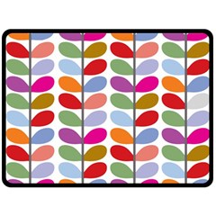 Colorful Bright Leaf Pattern Background Double Sided Fleece Blanket (large)  by Simbadda
