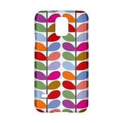 Colorful Bright Leaf Pattern Background Samsung Galaxy S5 Hardshell Case  by Simbadda