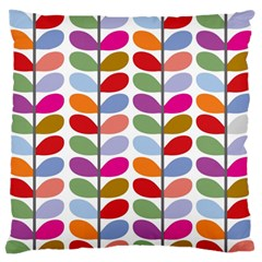 Colorful Bright Leaf Pattern Background Large Flano Cushion Case (two Sides) by Simbadda