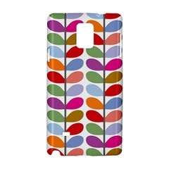 Colorful Bright Leaf Pattern Background Samsung Galaxy Note 4 Hardshell Case by Simbadda