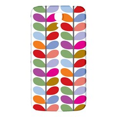 Colorful Bright Leaf Pattern Background Samsung Galaxy Mega I9200 Hardshell Back Case by Simbadda
