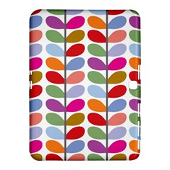 Colorful Bright Leaf Pattern Background Samsung Galaxy Tab 4 (10 1 ) Hardshell Case  by Simbadda