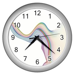 Abstract Ribbon Background Wall Clocks (silver)  by Simbadda