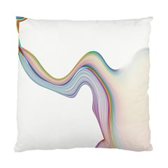 Abstract Ribbon Background Standard Cushion Case (two Sides) by Simbadda