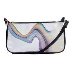 Abstract Ribbon Background Shoulder Clutch Bags by Simbadda