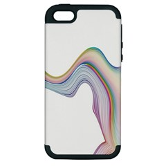 Abstract Ribbon Background Apple Iphone 5 Hardshell Case (pc+silicone) by Simbadda