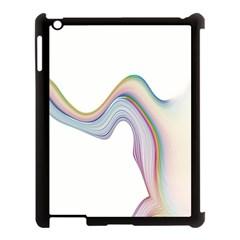 Abstract Ribbon Background Apple Ipad 3/4 Case (black) by Simbadda