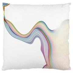 Abstract Ribbon Background Large Flano Cushion Case (two Sides) by Simbadda