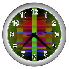 Galileo Galilei Reincarnation Abstract Character Wall Clocks (silver)  by Simbadda