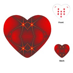 Impressive Red Fractal Playing Cards (heart)  by Simbadda
