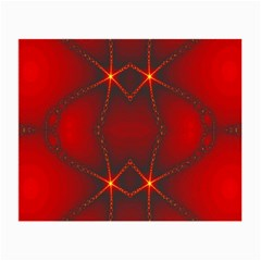 Impressive Red Fractal Small Glasses Cloth (2 Side) by Simbadda