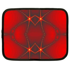 Impressive Red Fractal Netbook Case (large) by Simbadda