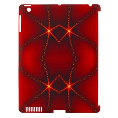 Impressive Red Fractal Apple Ipad 3/4 Hardshell Case (compatible With Smart Cover) by Simbadda