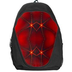 Impressive Red Fractal Backpack Bag by Simbadda