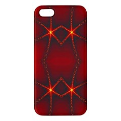 Impressive Red Fractal Iphone 5s/ Se Premium Hardshell Case by Simbadda