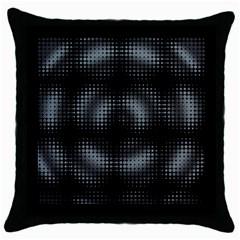 Circular Abstract Blend Wallpaper Design Throw Pillow Case (black) by Simbadda