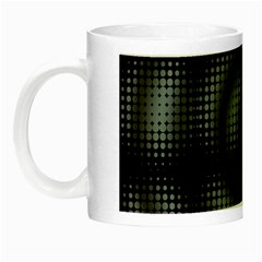 Circular Abstract Blend Wallpaper Design Night Luminous Mugs by Simbadda
