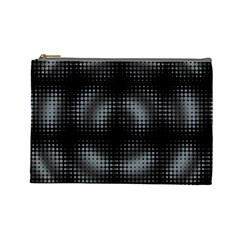 Circular Abstract Blend Wallpaper Design Cosmetic Bag (large)  by Simbadda