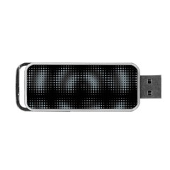 Circular Abstract Blend Wallpaper Design Portable Usb Flash (two Sides) by Simbadda