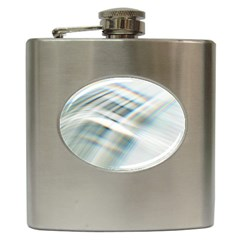 Business Background Abstract Hip Flask (6 Oz) by Simbadda