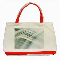 Business Background Abstract Classic Tote Bag (red) by Simbadda