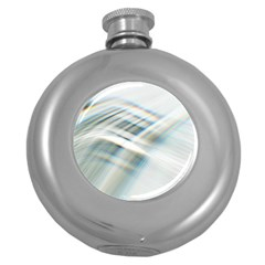 Business Background Abstract Round Hip Flask (5 Oz) by Simbadda