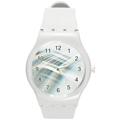 Business Background Abstract Round Plastic Sport Watch (m) by Simbadda
