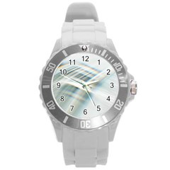 Business Background Abstract Round Plastic Sport Watch (l) by Simbadda
