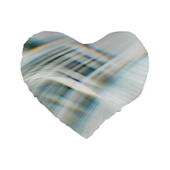 Business Background Abstract Standard 16  Premium Flano Heart Shape Cushions by Simbadda