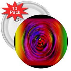 Colors Of My Life 3  Buttons (10 Pack)  by Simbadda