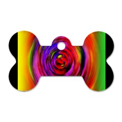 Colors Of My Life Dog Tag Bone (two Sides) by Simbadda