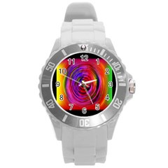 Colors Of My Life Round Plastic Sport Watch (l) by Simbadda
