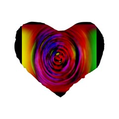 Colors Of My Life Standard 16  Premium Flano Heart Shape Cushions by Simbadda