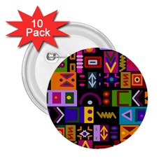 Abstract A Colorful Modern Illustration 2 25  Buttons (10 Pack)  by Simbadda