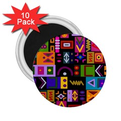 Abstract A Colorful Modern Illustration 2 25  Magnets (10 Pack)  by Simbadda