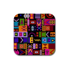 Abstract A Colorful Modern Illustration Rubber Coaster (square)  by Simbadda