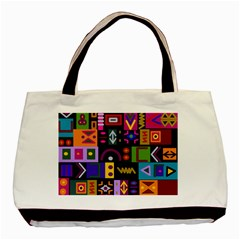 Abstract A Colorful Modern Illustration Basic Tote Bag by Simbadda