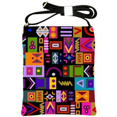 Abstract A Colorful Modern Illustration Shoulder Sling Bags by Simbadda
