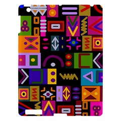 Abstract A Colorful Modern Illustration Apple Ipad 3/4 Hardshell Case by Simbadda