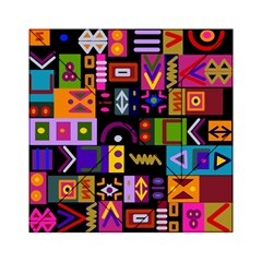 Abstract A Colorful Modern Illustration Acrylic Tangram Puzzle (6  X 6 ) by Simbadda