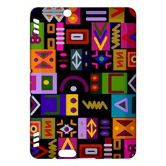 Abstract A Colorful Modern Illustration Kindle Fire Hdx Hardshell Case by Simbadda