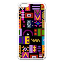 Abstract A Colorful Modern Illustration Apple Iphone 6 Plus/6s Plus Enamel White Case by Simbadda