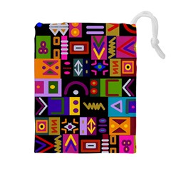 Abstract A Colorful Modern Illustration Drawstring Pouches (extra Large) by Simbadda