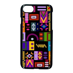 Abstract A Colorful Modern Illustration Apple Iphone 7 Seamless Case (black) by Simbadda