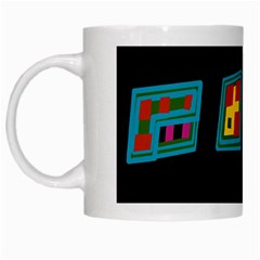 Abstract A Colorful Modern Illustration White Mugs by Simbadda