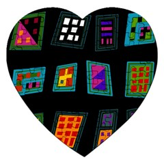 Abstract A Colorful Modern Illustration Jigsaw Puzzle (heart) by Simbadda